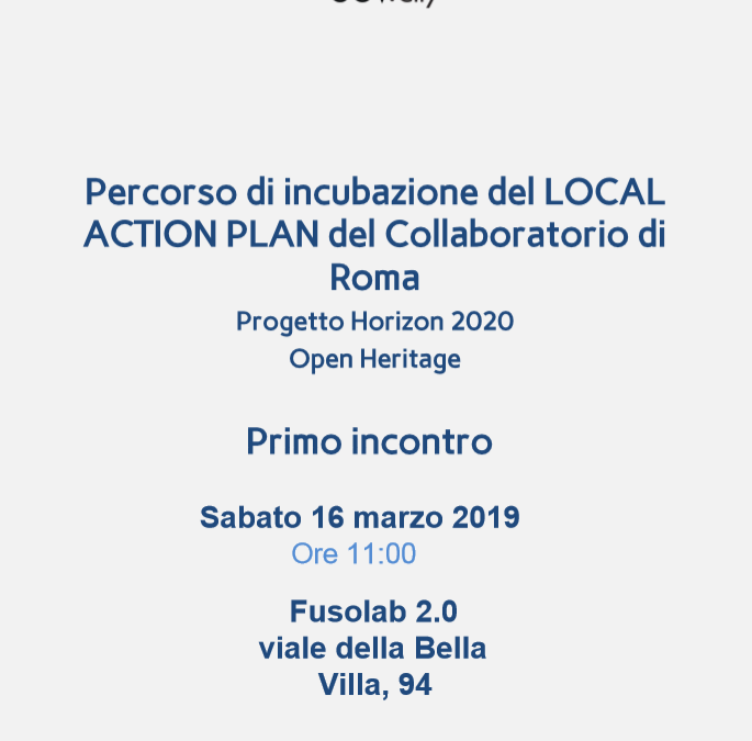 "Save the date! On the 16th of March LUISS LabGov is hosting the first meeting of the incubation process of the ""Local Action Plan of the Collaboratory of Rome"""