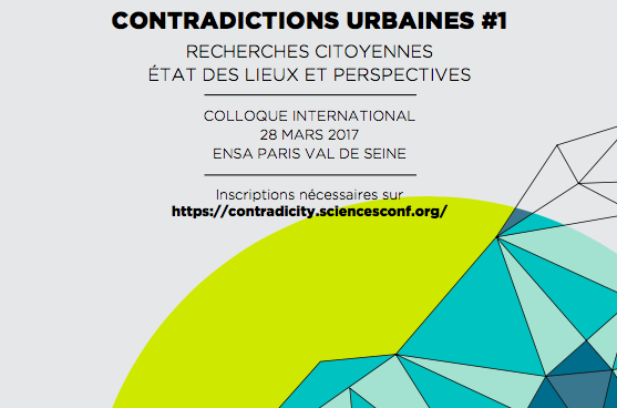 "Exploring Urban Contradictions in Collaborative Housing at the first International Conference ""Contradictions Urbaines"", Paris"