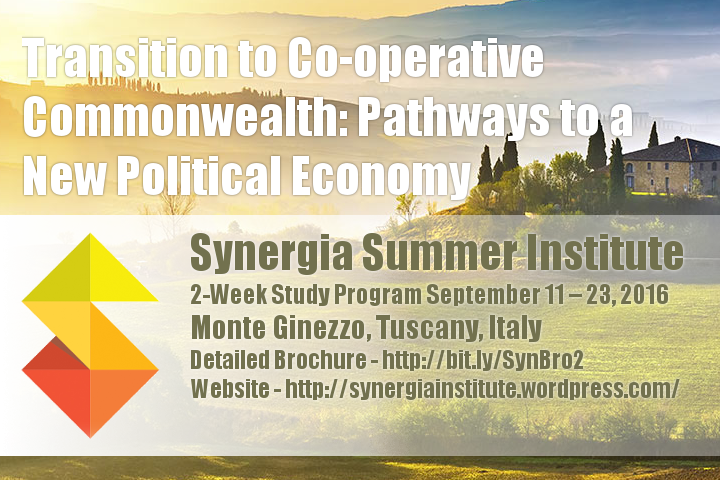 """2-Week Study Program  """"Transition to Co-operative Commonwealth:  Pathways to a New Political Economy"""""""