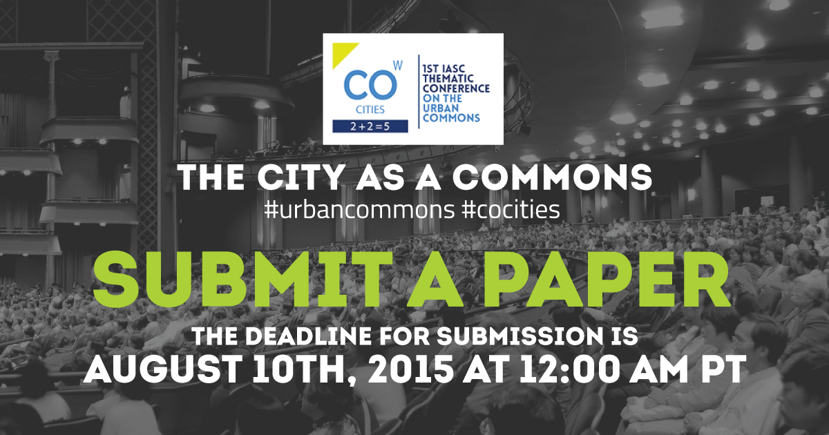 The City as a Commons: Designing and Governing the City as a Common Resource?